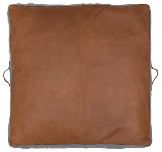 Leather Square Floor Pad - Contemporary - Floor Pillows And Poufs - by Amigos De Hoy