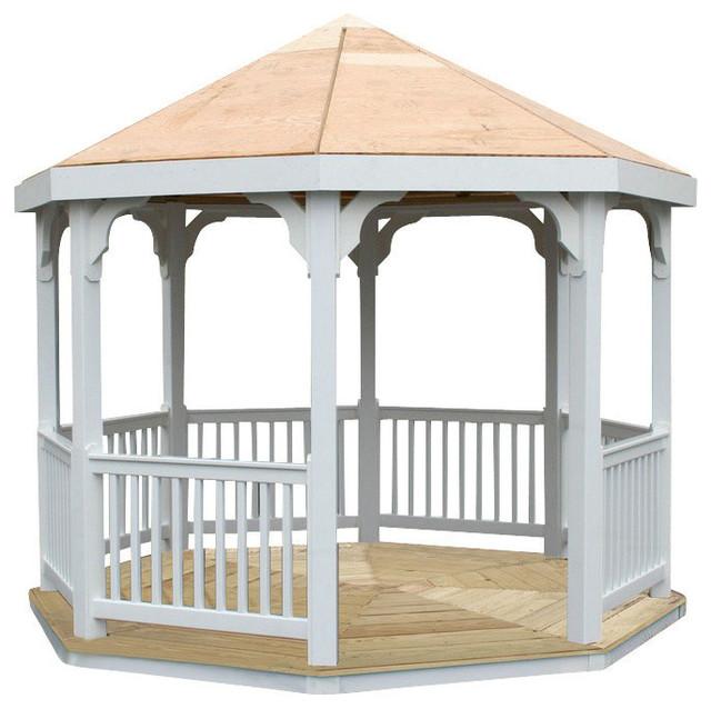 Garden Furniture Gazebo 10' vinyl gazebo - traditional - gazebos -outdoor furniture plus