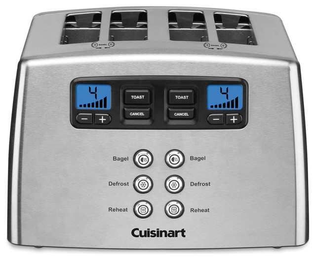 Touch To Toast Leverless Toaster, 4-Slice.