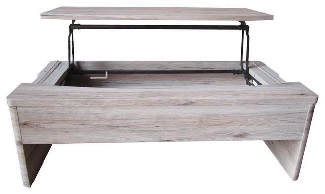 Mackinac lift functional coffee table farmhouse coffee for Functional side table
