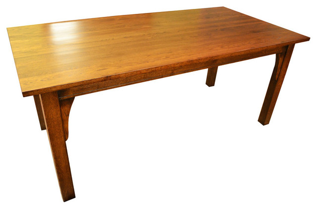 Arts And Crafts Style Mission Solid Oak 6 Dining Table