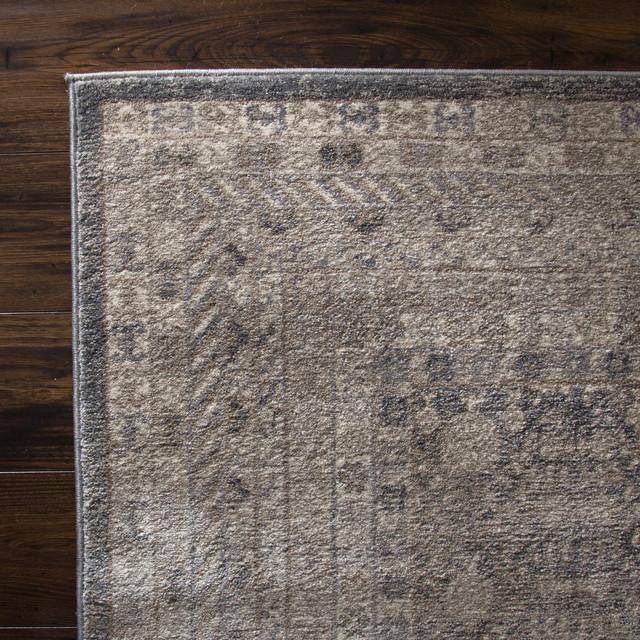 Lavish Home Vintage Greek Rug, Grey Brown, 8'x10'