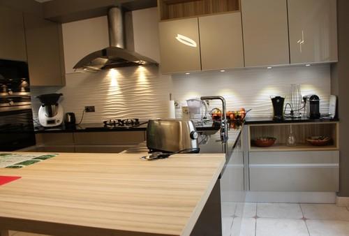 avant apr s changement de d cor pour cette cuisine des ann es 90. Black Bedroom Furniture Sets. Home Design Ideas