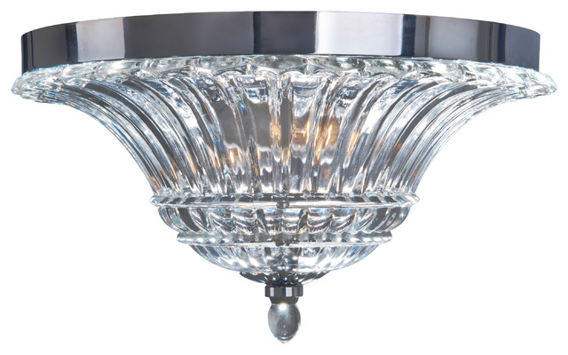 Elegant Designs 2-Light Glass Ceiling Light Glacier Petal Flushmount.