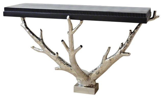 Wall Console Table global views branch wall console - rustic - console tables -