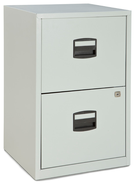 Bisley Two Drawer Steel Home or Office Filing Cabinet - Contemporary - Filing Cabinets - by ...