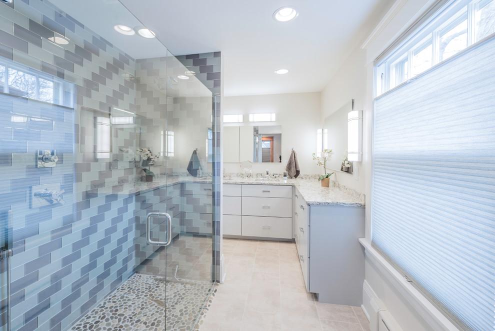 Union Park St. Paul Bathroom with curbless shower ...