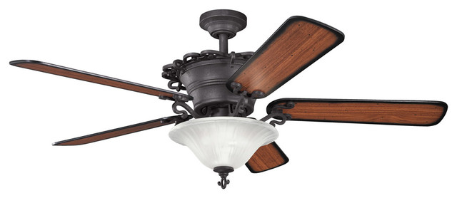 Kichler Lighting 300006dbk Wilton 3 Light Indoor Ceiling Fans In Distressed Blac.