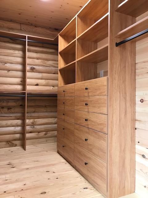 Log Home Master Closet- Salem, SC