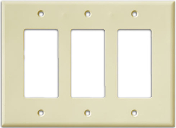 Beau InvisiPlate Three Rocker Paintable Plate Cover, Smooth