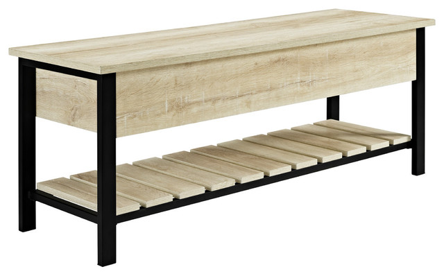 48 Quot Open Top Storage Bench With Shoe Shelf Industrial
