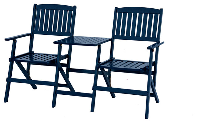Jack And Jill Chairs, Navy Blue Craftsman Outdoor Folding Chairs