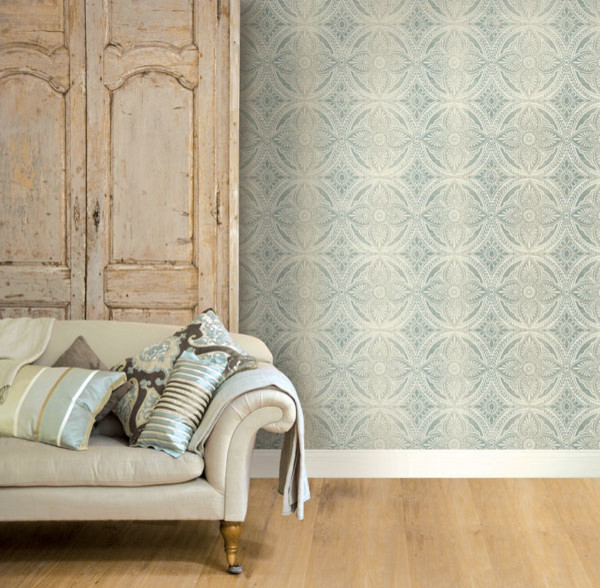 Vintage wallpaper wallpaper other by brewster home for Home wallpaper designs 2013