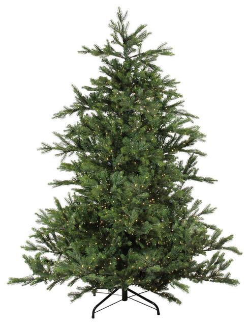 7.5' Pre-Lit Oregon Noble Fir Artificial Christmas, Warm White LED Lights