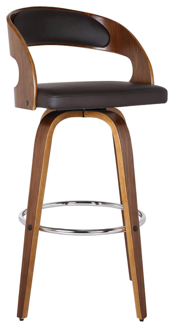 Shelly Swivel Bar Stool Contemporary Bar Stools And Counter