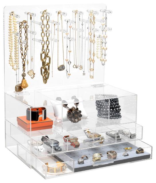 "GLAMclassic Jewelry box, 9"" X 20"", Without Acrylic Handles"