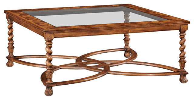 jonathan charles square oyster coffee table glass top 492392