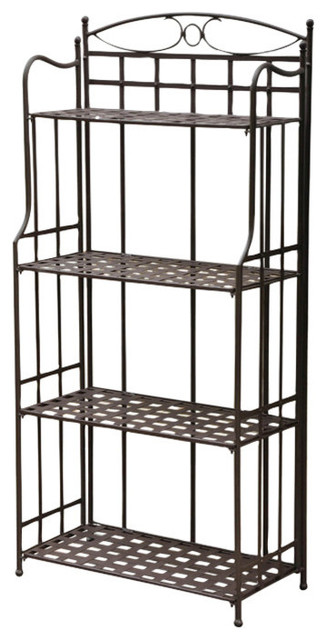 Santa Fe Nailhead 4 Tier Bakers Rack Rustic Brown