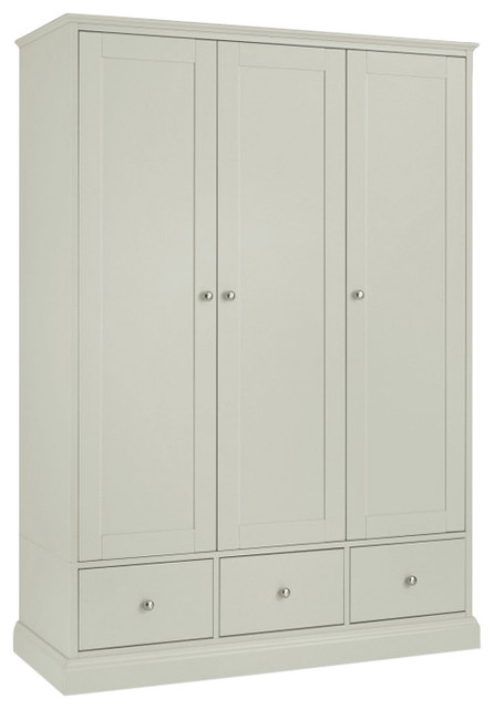 Ashby Cotton Painted Furniture Triple Wardrobe