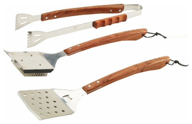 Vineyard Rosewood 3-Piece Bbq Tool Set.