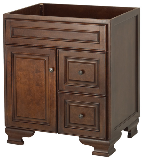 Hawthorne 30  Walnut Bathroom Vanity  Dark Walnut  21 75 X 30 X 34. Shop Houzz   Wolf Bath Hawthorne 30  Walnut Bathroom Vanity