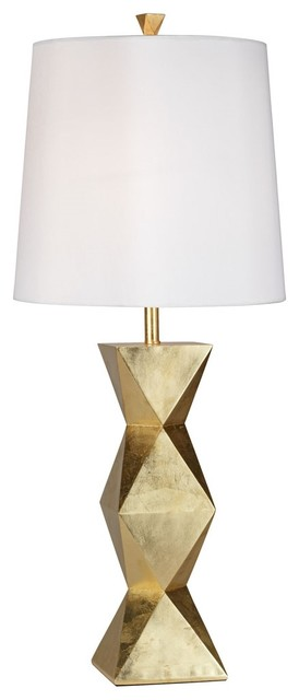 Ripley 1-Light Table Lamps, Gold Leaf With-Light Glaze.