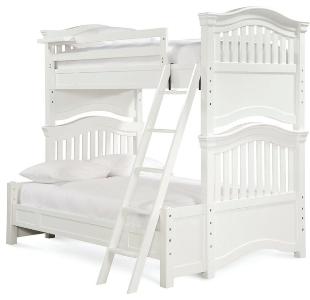 Universal furniture smartstuff classics 4 0 bunk bed white for Beds unlimited