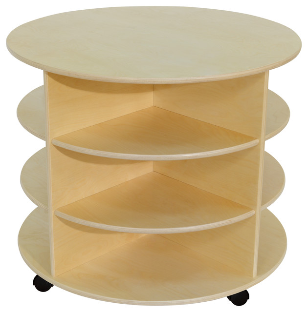 38 H Circular Storage Unit Contemporary Toy Organizers By