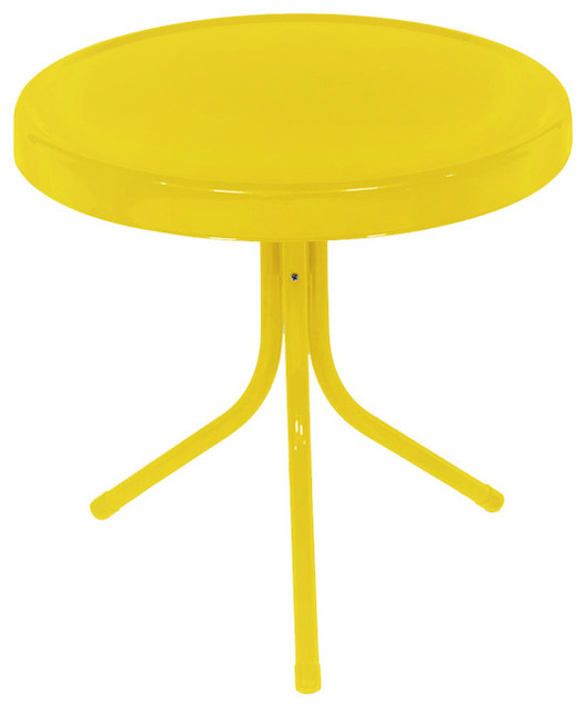 Remarkable Sunshine Retro Metal Tulip Outdoor Side Table Yellow 20 Download Free Architecture Designs Viewormadebymaigaardcom
