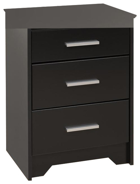 3 Drawer Tall Nightstand Transitional Nightstands And: how tall is a nightstand