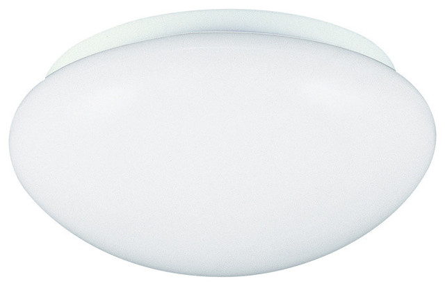 3-Light Ceiling Flush Mount, White.
