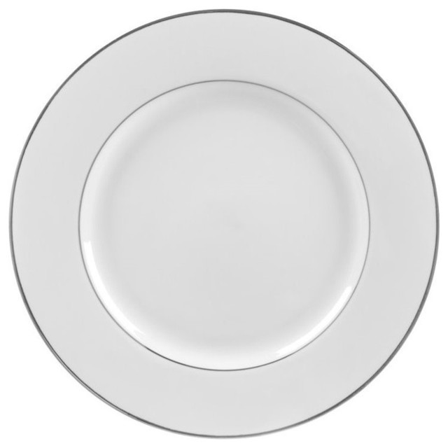 10 strawberry street silver double line charger plates set of 6