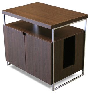 Large Litter Box Hider - Contemporary - Litter Boxes And Covers - by Modern Cat Designs