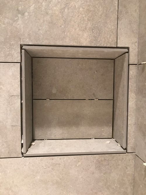 Shower Niche I Wanted Clean Edges With My Tile