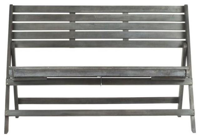 Fine Hawthorne Collection Steel And Acacia Wood Folding Bench Creativecarmelina Interior Chair Design Creativecarmelinacom
