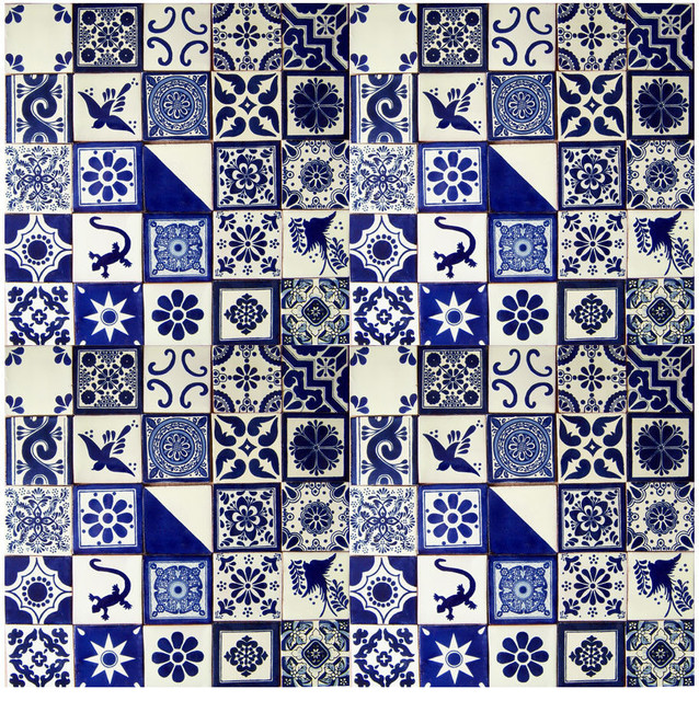 X Handpainted Talavera Mexican Tiles Piece Set - Discount mexican tile
