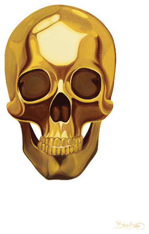 is the 49 x 68 gold skull mural suitable for framing. Black Bedroom Furniture Sets. Home Design Ideas