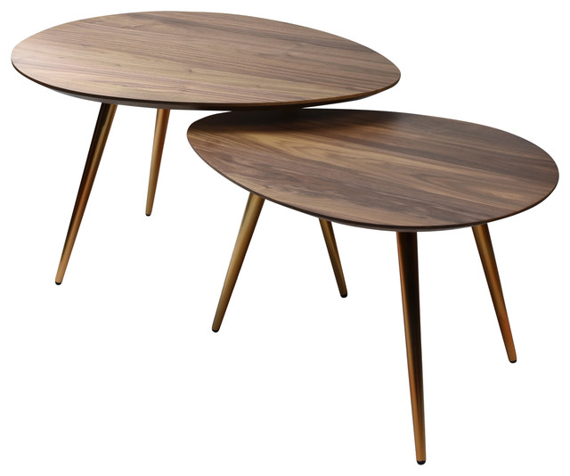 Maddox Mid Century Modern Nesting Coffee Table Set Midcentury Coffee Tables