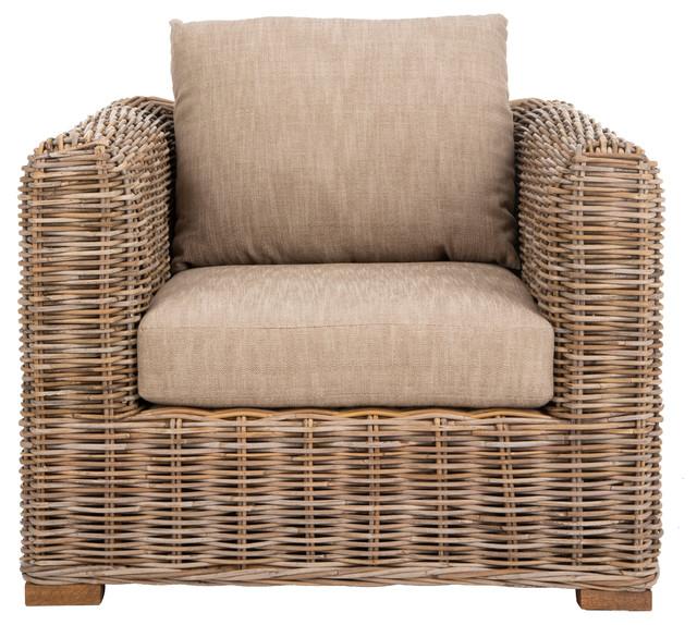 Wicker Accent Chairs.Safavieh Bora Bora Wicker Accent Chair Natural