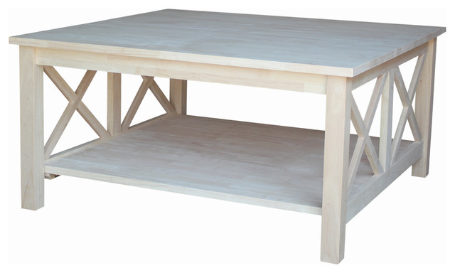 Hampton Square Coffee Table Beach Style Coffee Tables By International Concepts