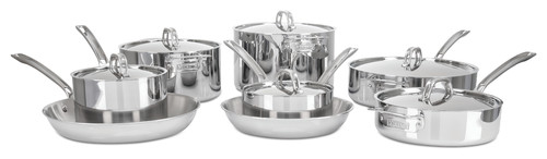 Viking 3-Ply 14-Piece Pots and Pans Set, Mirror Finish