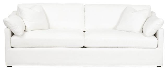 Cool Lena 94 Slope Arm Slipcover Sofa Livesmart Peyton Pearl Short Links Chair Design For Home Short Linksinfo
