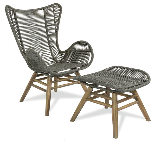 Oceans Neptune Indoor/Outdoor Chair and Ottoman