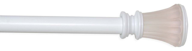 "Versailles 3/4"" Elite Rod Sets 30/78"" With Fluted Finial Frosted White."