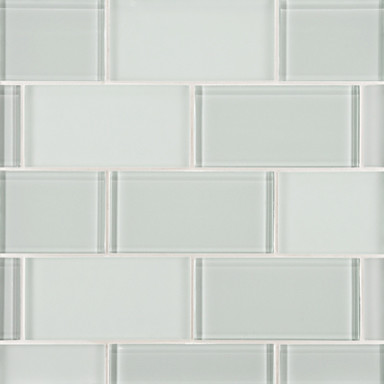 Do the clear and white glass tiles always have a tint of green
