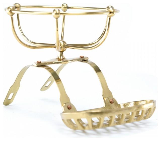 Vintage Clawfoot Tub Soap Dish Sponge Holder Brass Vintage Brass