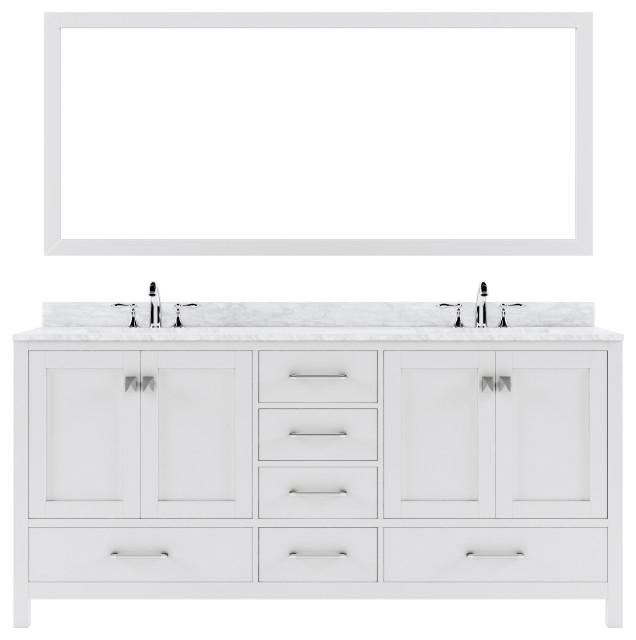 Ine Avenue 72 Double Vanity, Double Sink Bathroom Vanity Without Top
