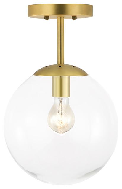 Aura Globe Ceiling Light Clear Gl