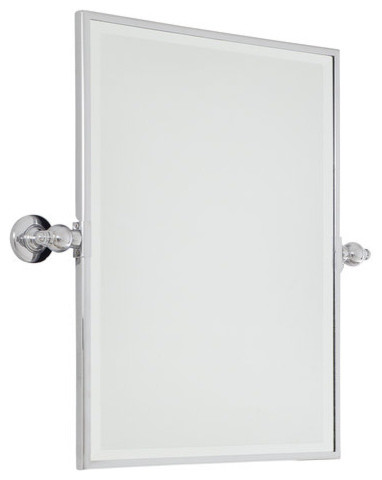 Bathroom Mirror Chrome minka lavery 1441-77 pivoting bathroom mirror extra large