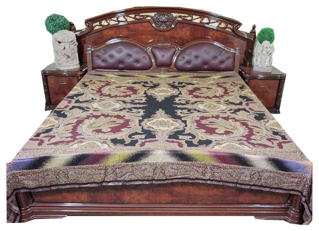 Cashmere Pashmina Bedspreads Boho Throw Blanket.